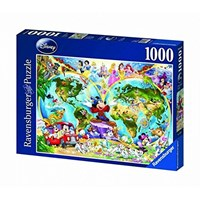 "Ravensburger (15785) - ""Disney World Map"" - 1000 pieces puzzle"