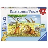 """Ravensburger (07606) - """"Elefant, Lion & Co."""" - 12 pieces puzzle"""