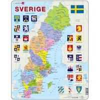 """Larsen (A7-SE) - """"Sweden Political Map - SE"""" - 70 pieces puzzle"""