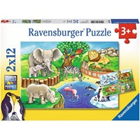 "Ravensburger (07602) - ""Animals in the Zoo"" - 12 pieces puzzle"