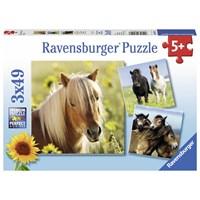 """Ravensburger (08011) - """"Horses"""" - 49 pieces puzzle"""