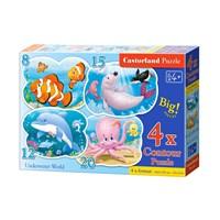 """Castorland (B-043026) - """"Underwater World"""" - 8 12 15 20 pieces puzzle"""