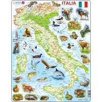 "Larsen (K83-IT) - ""Map of Italy (in Italian)"" - 65 pieces puzzle"