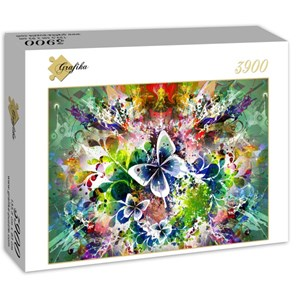 "Grafika (01301) - ""Spring Flowers and Butterflies"" - 3900 pieces puzzle"