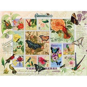 "SunsOut (55962) - Finchley Arts: ""Butterfly and Hummingbird Flight"" - 1000 pieces puzzle"